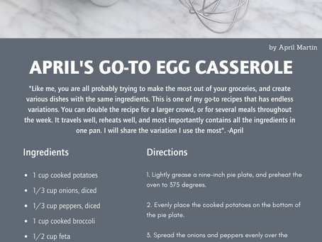 April's Go To Egg Casserole