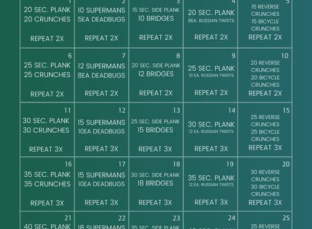 25-Day Plank Challenge