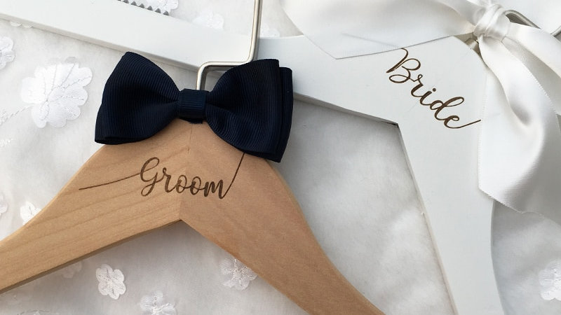 Wedding Dress Hanger Personalized