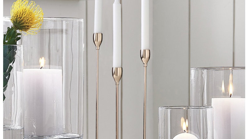 Shining Party Golden Metal Candle Holders
