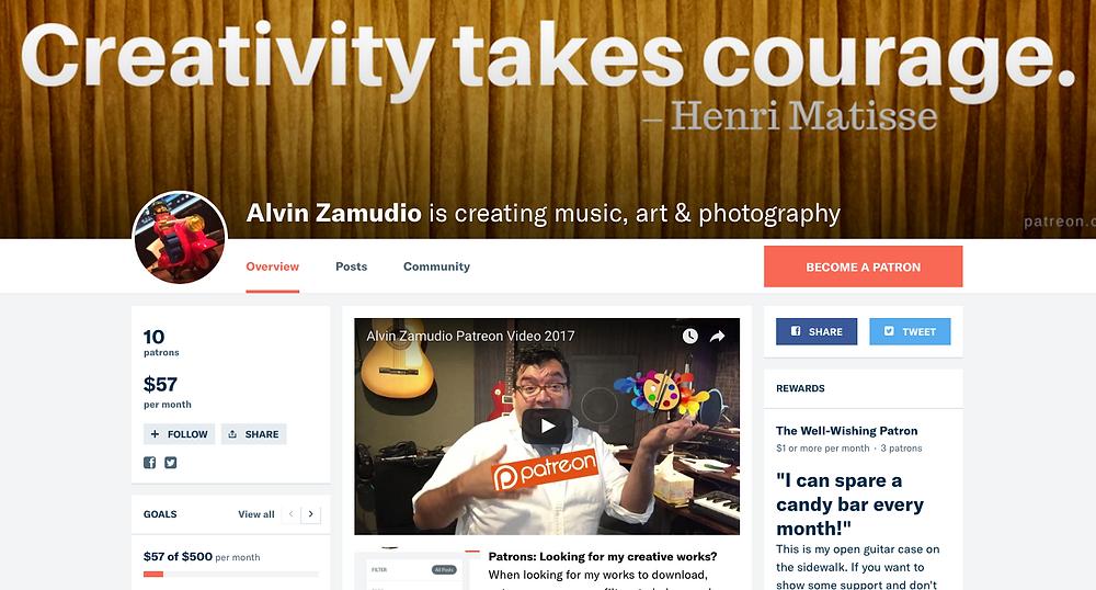 Alvin Zamudio on Patreon.com