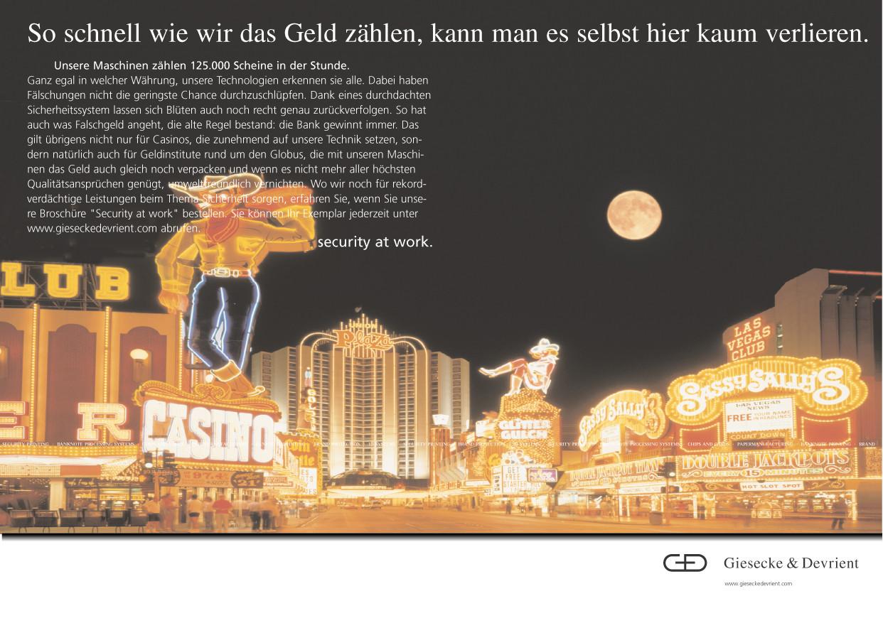 Giesecke & Devrient - LasVegas / große Geldzählungen