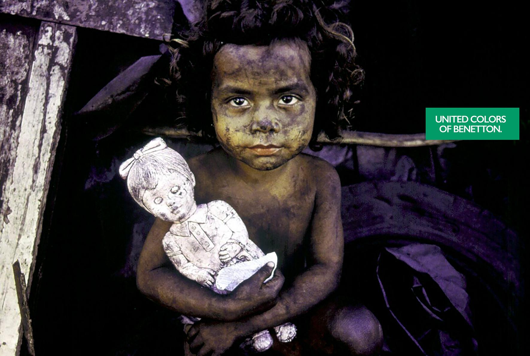 Benetton - Afghanisches Kind mit Puppe (1992)