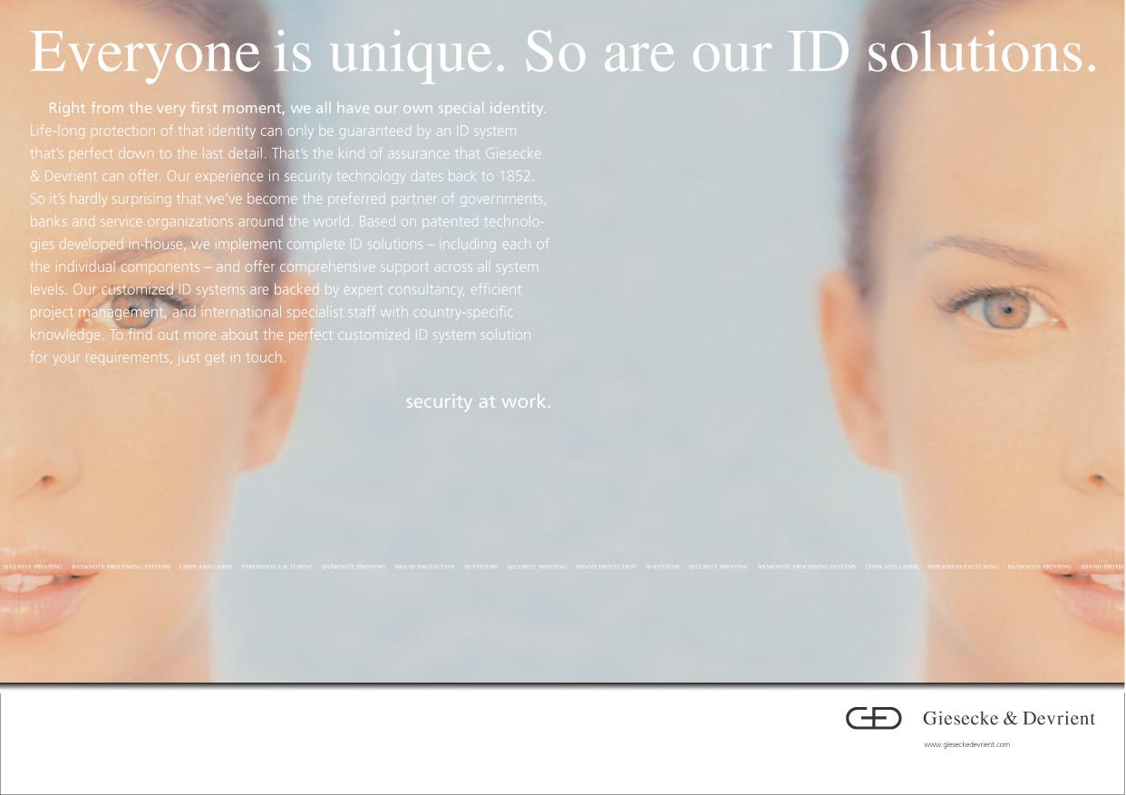 Giesecke & Devrient / Zwillinge  - ID/Unterscheidung von Personalien