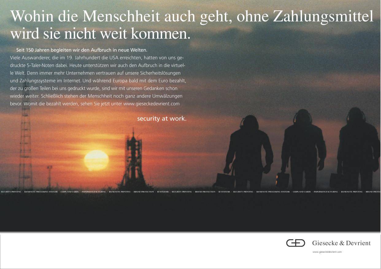 Giesecke & Devrient - Astronauten / Geld der Zukunft