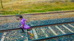 Girl in the Purple Dress, Erzurum, Turkey
