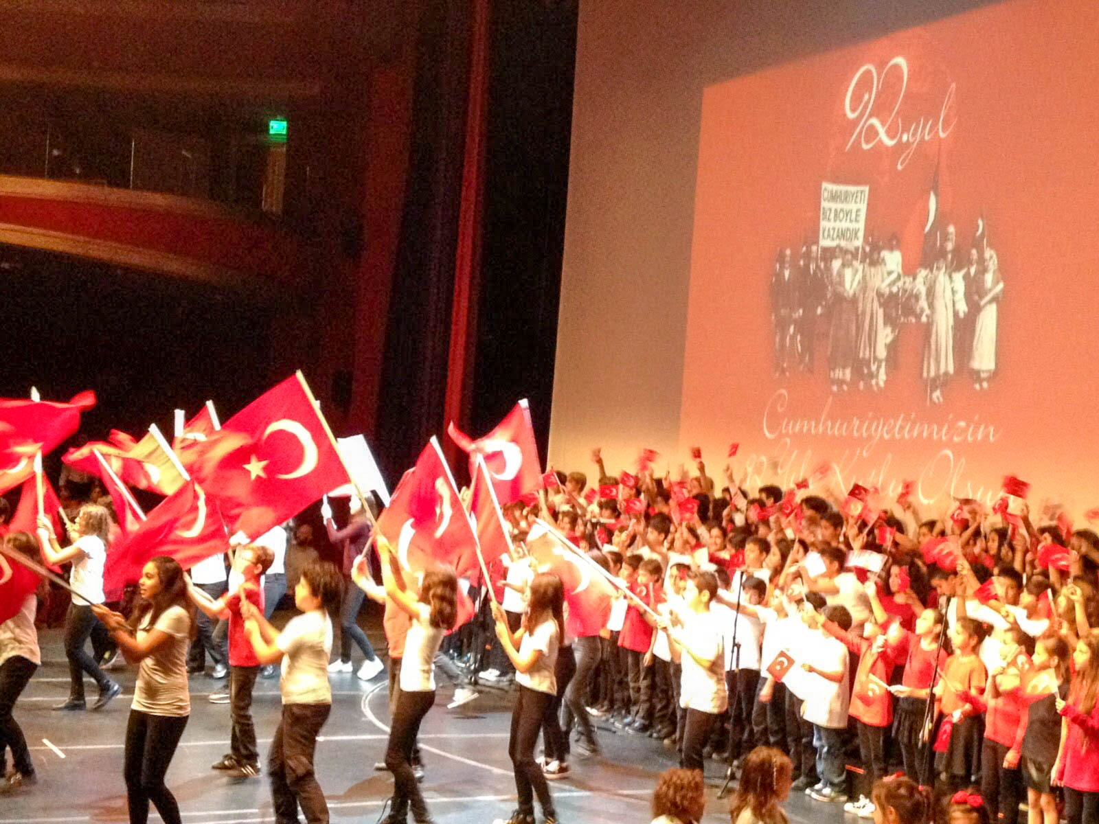 Republic Day Celebrations in a Primary School, Istanbul, Turkey