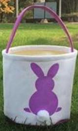 Easter Basket Purple Bunny
