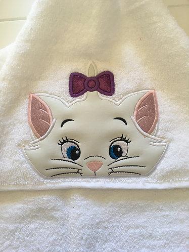 Aristocats Marie Cat Hooded Towel