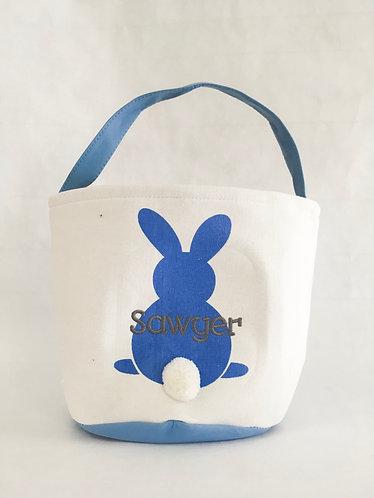 Easter Basket Blue Bunny