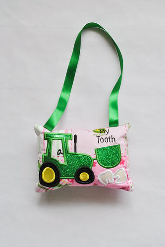Tractor Tooth Fairy Pillow