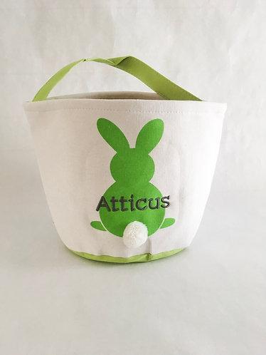 Easter Basket Green Bunny
