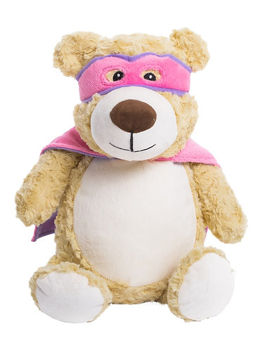 Hero Bear in Pink and Purple