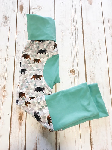 Grow With Me Pants (Maxaloons) Bears with Teal