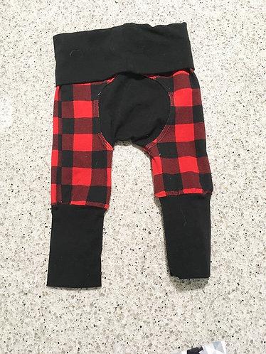 Grow With Me Pants (Maxaloons) Buffalo Plaid with Black