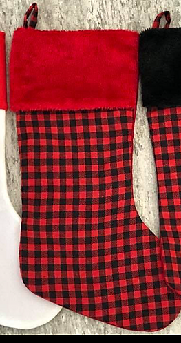 Red Plaid Stocking