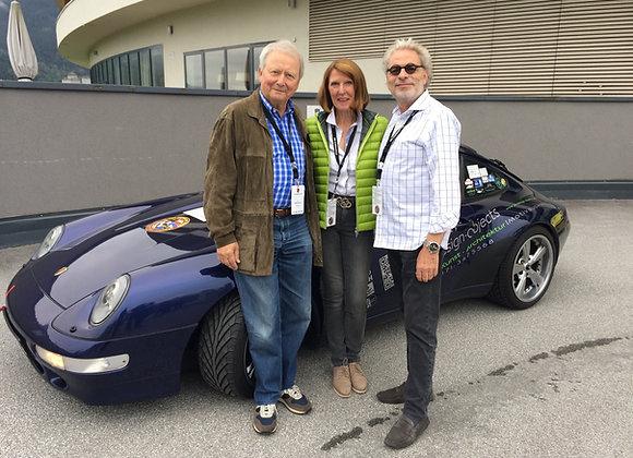 mit dem Porsche 993 bei Dr. Wolfgang Porsche in Zell am See
