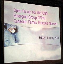 CFPNA Open Forum at the OFPN 2008