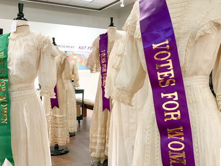 Wesleyan art student exhibition on display - Rebellious Women: Celebrating Women's Suffrage