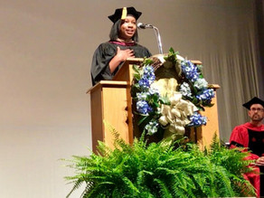 """Fall Convocation Keynote Speaker Jessica Kendrick Thomas '08: """"Let us hear your voices&quot"""