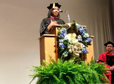 "Fall Convocation Keynote Speaker Jessica Kendrick Thomas '08: ""Let us hear your voices&quot"