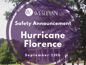 Safety Announcement: Hurricane Florence