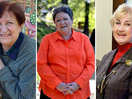 Three faculty with a combined 100 years of teaching at Wesleyan College retire in May