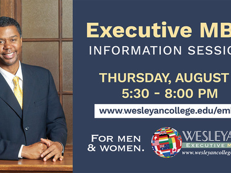 Wesleyan to Host Reception for Men and Women Interested in Earning Their EMBA