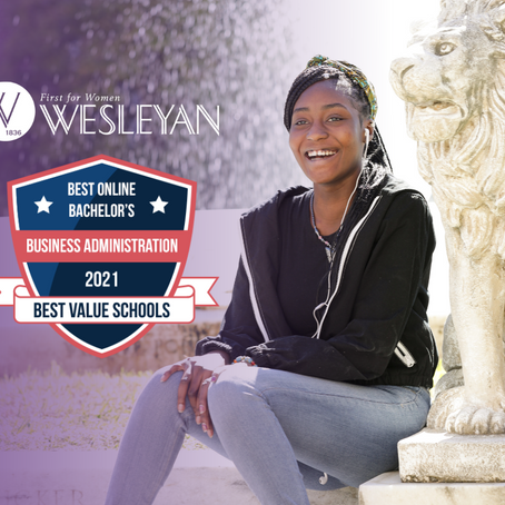 Wesleyan ranks as the nation's 10th Best Online Bachelor in Business Administration Degree Program