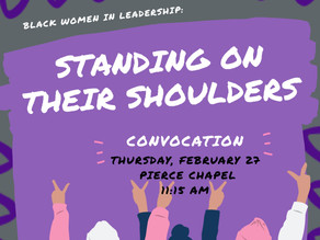"Wesleyan to host ""Standing On Their Shoulders"" February 27"