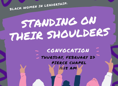 "Wesleyan to host ""Standing On Their Shoulders"" February 27"