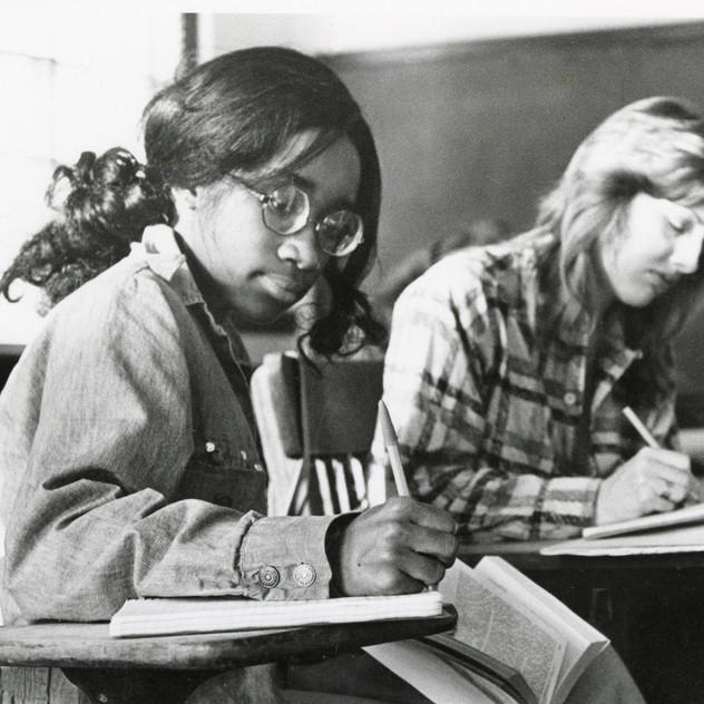 Two_Students_Taking_Notes__ALUMNAE_BOX_2__photographs-no_identification