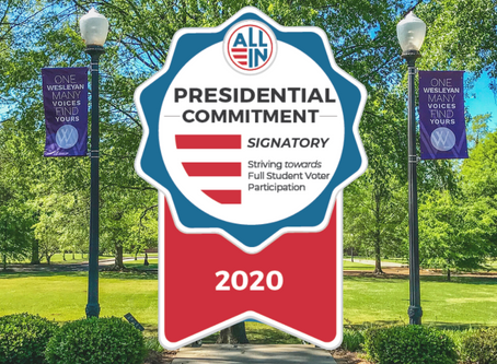 Wesleyan Commits to 100% Student Voter Registration and Participation