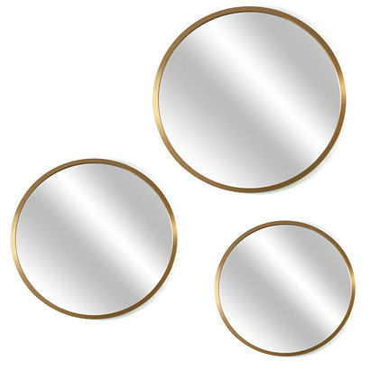 Triptico de espejos marco Dorado/ Negro/ Símil Madera