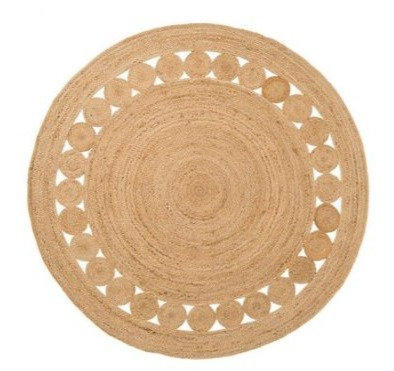 Alfombra Circular  de yute 1.20 mts  con Diseño