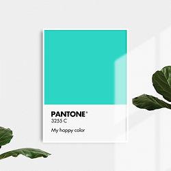PANTONE AQUA Printable - Funny Wall Deco