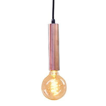 Luminaria tubo de cobre