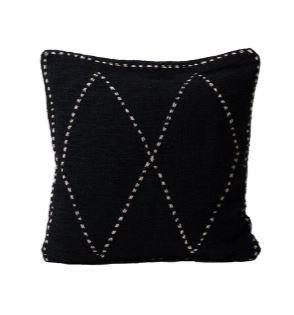 Almohadón 50 x 50 cm Rombos Negro