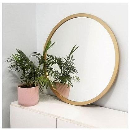 Espejo circular 60 cm marco dorado