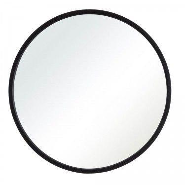 Espejo circular 60 cm marco Negro/Dorado/ Símil Madera