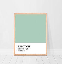Mint Minimalist Pantone Colors Mist Gree