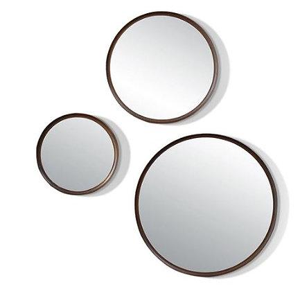 Triptico de espejos marco negro/dorado/ Símil Madera