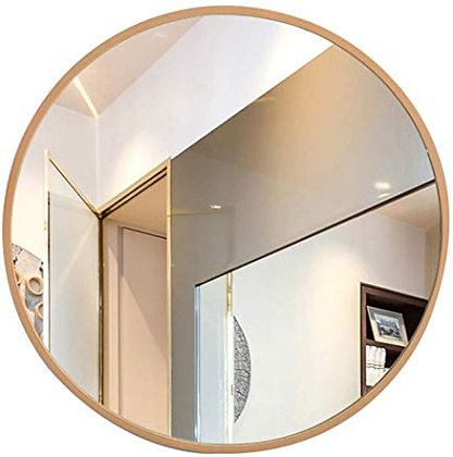 Espejo circular 80 cm marco madera