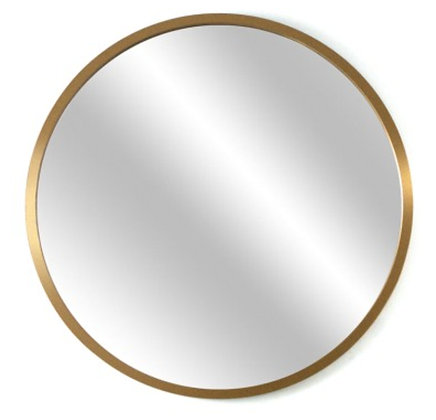 Espejo circular 50 cm marco dorado/madera/negro