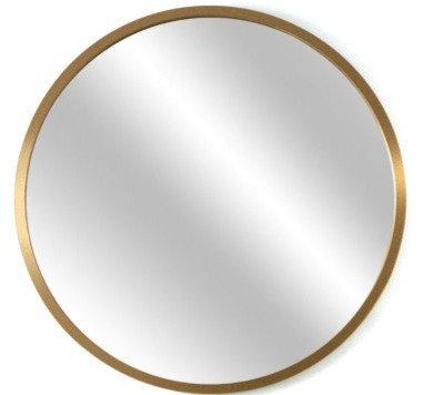 Espejo circular 70 cm marco Dorado/Símil Madera/ Negro