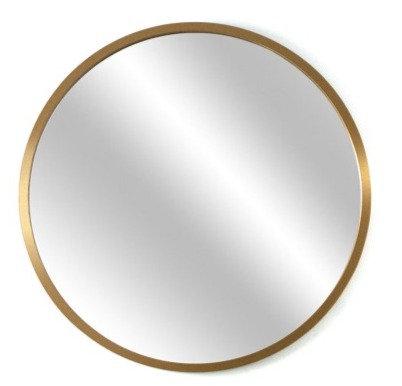 Espejo circular 60 cm marco dorado/ Marco negro/ Símil Madera