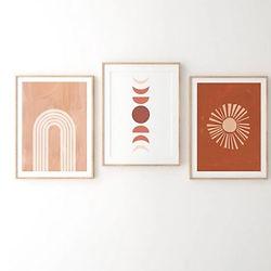 Triptico Abstracto, Circulos , Rojizo.JP