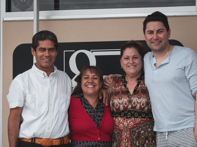 From Left to Right: Roberto Guido, Ana Rosa Guido, Paula Recca, Vincet Recca