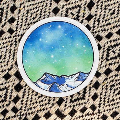 Turquoise Night Sky Sticker