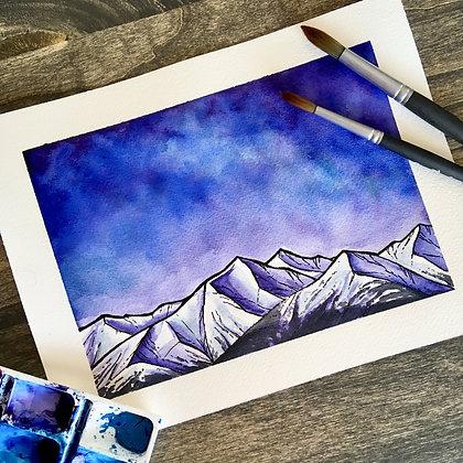 Blue Mountains - Original Watercolour